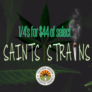 44 for 1/4s saints strains marijuana