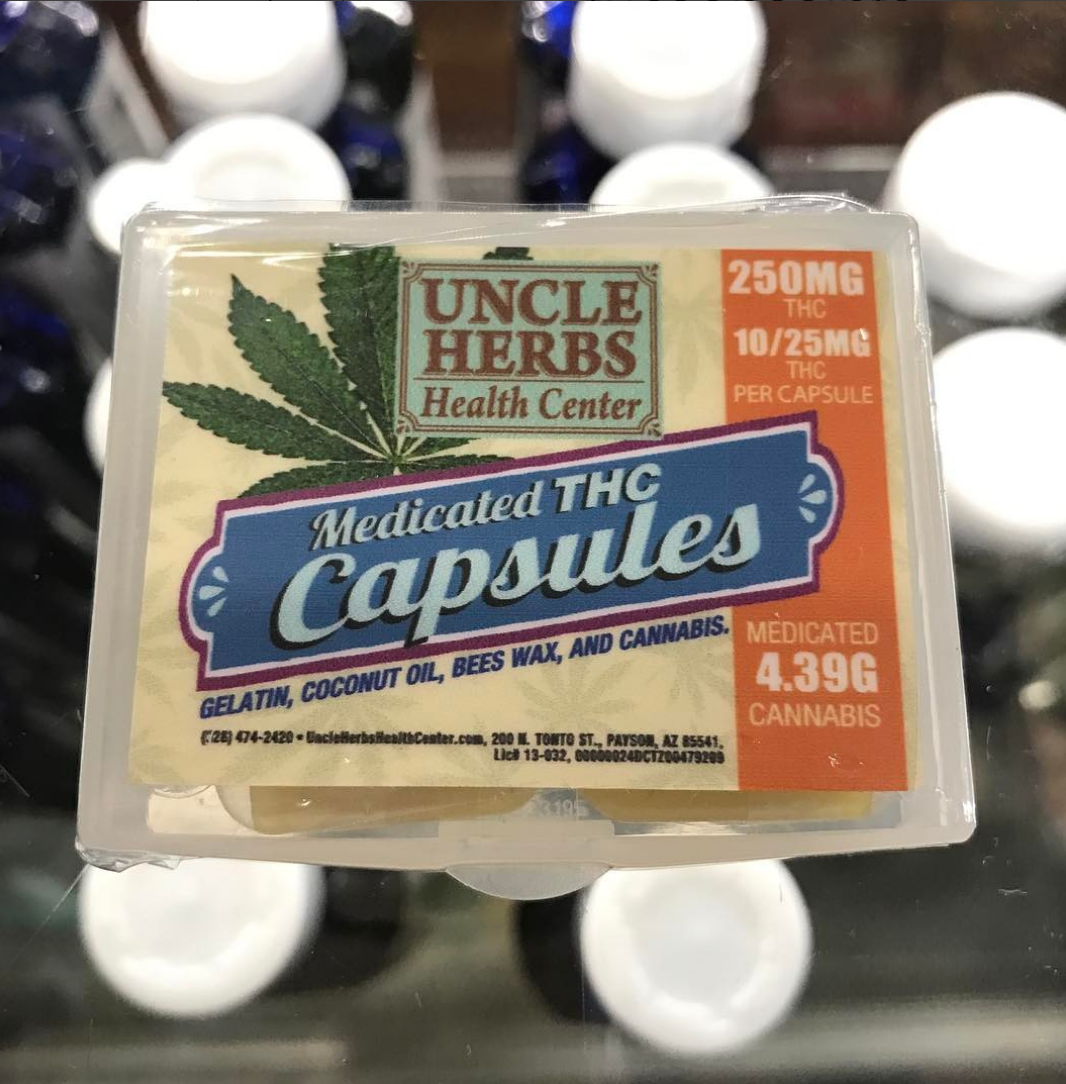 Uncle Herbs Medicated THC Capsules