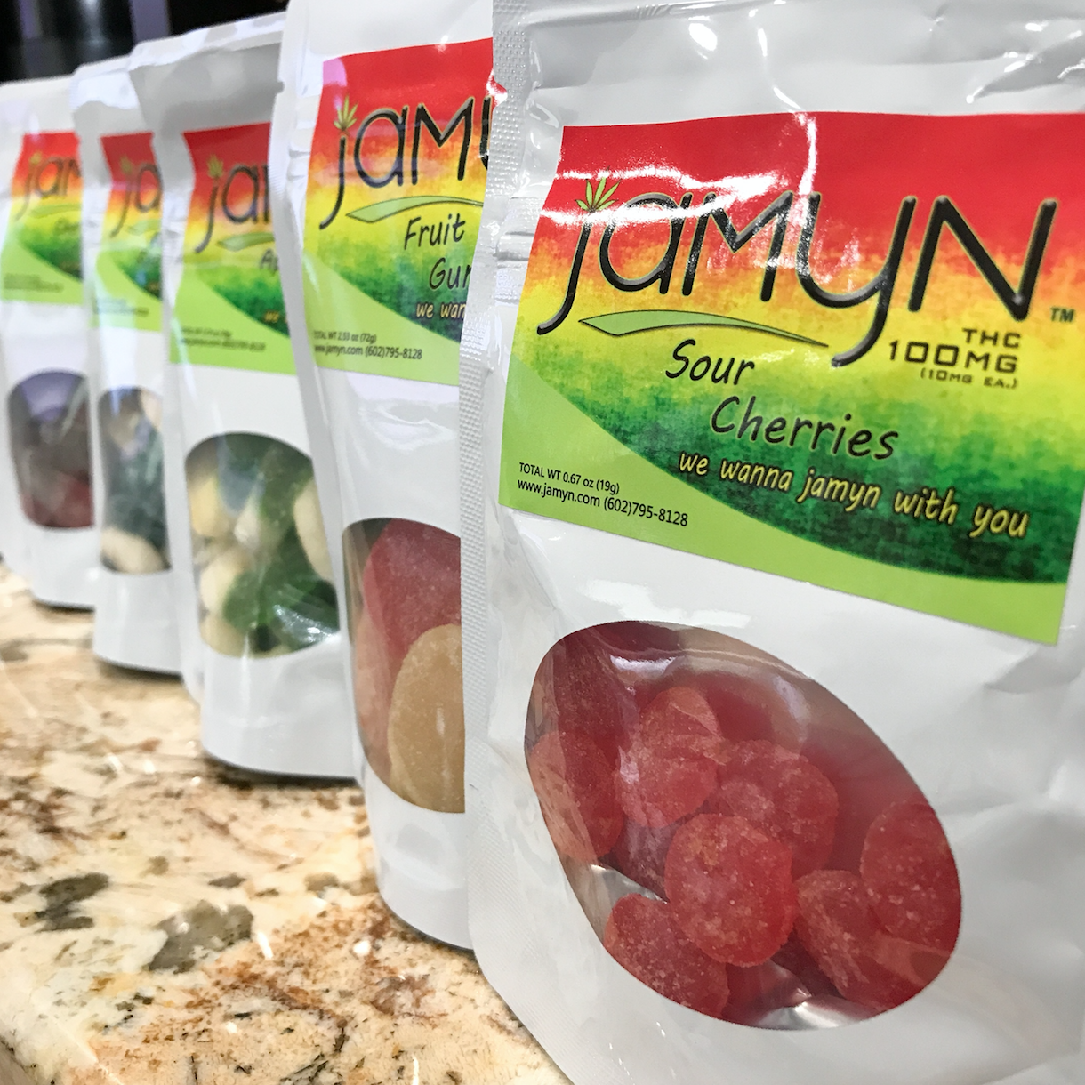 Jamyn Sour Cherries Edibles Tucson Dispensary
