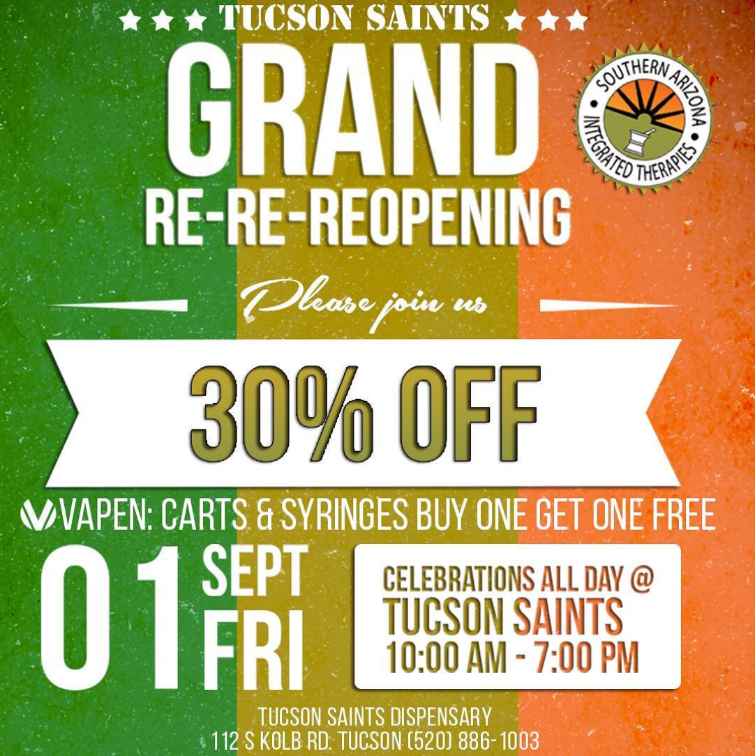 30% OFF TUCSON SAINTS GRAND OPENING