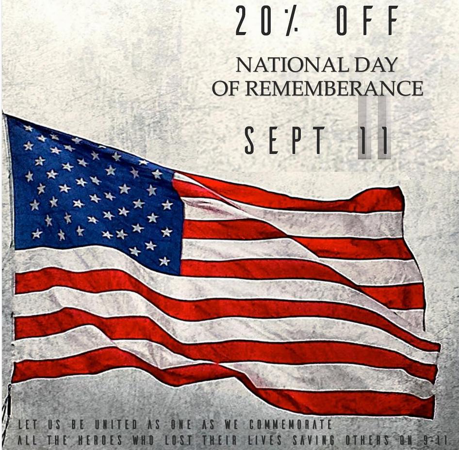 Patriot Day Sale Tucson SAINTS Dispensary VETS Discounts