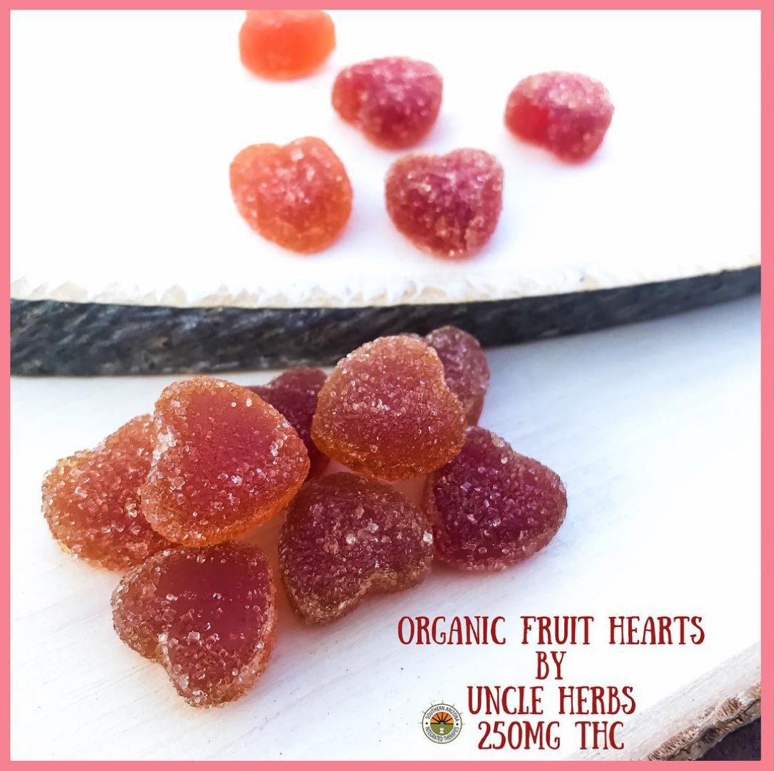 Uncle Herbs Organic Fruit Hearts 250mg