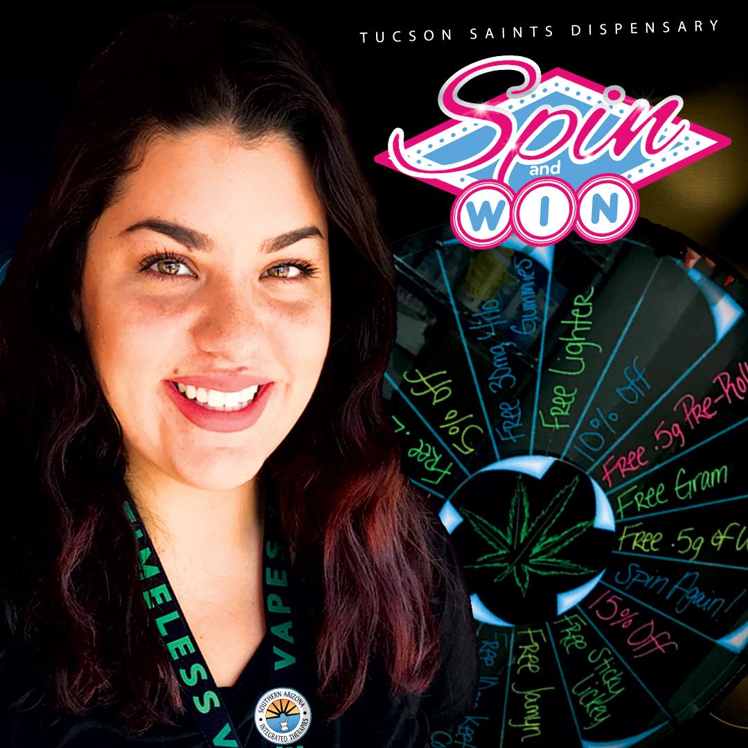 wheel-of-winners-SPIN-tucson-saints-dispensary