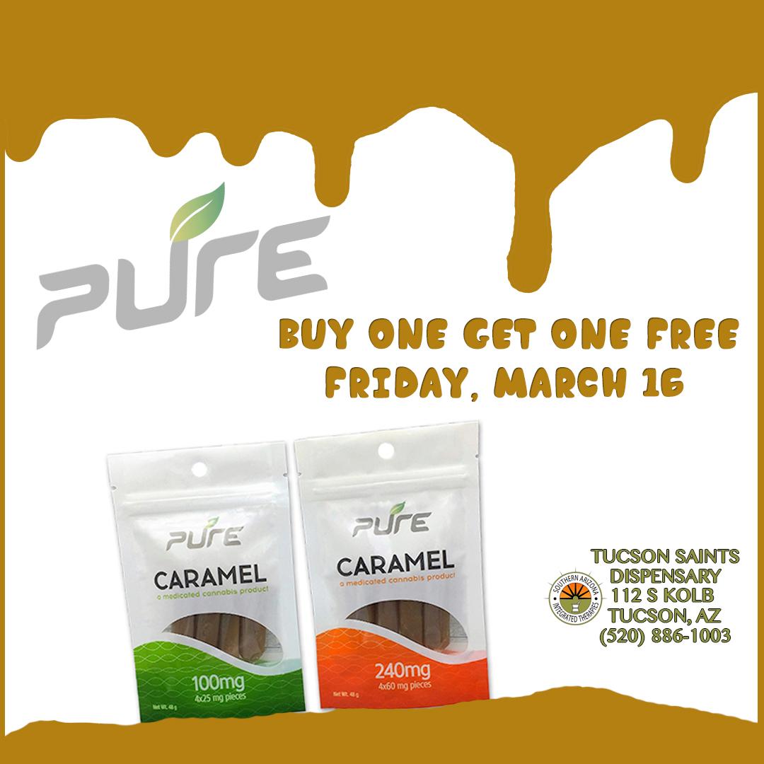 pure-caramels-tucson-saints-dispensary-event-march-16-2018