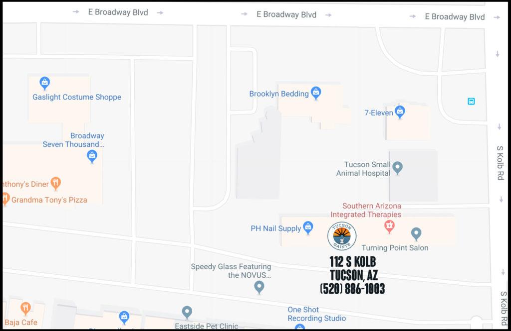 map-tucson-saints-location-112-s-kolb-rd-tucson