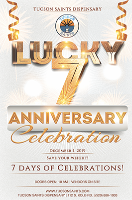7 year anniversary dispensary specials tucson saints 2019