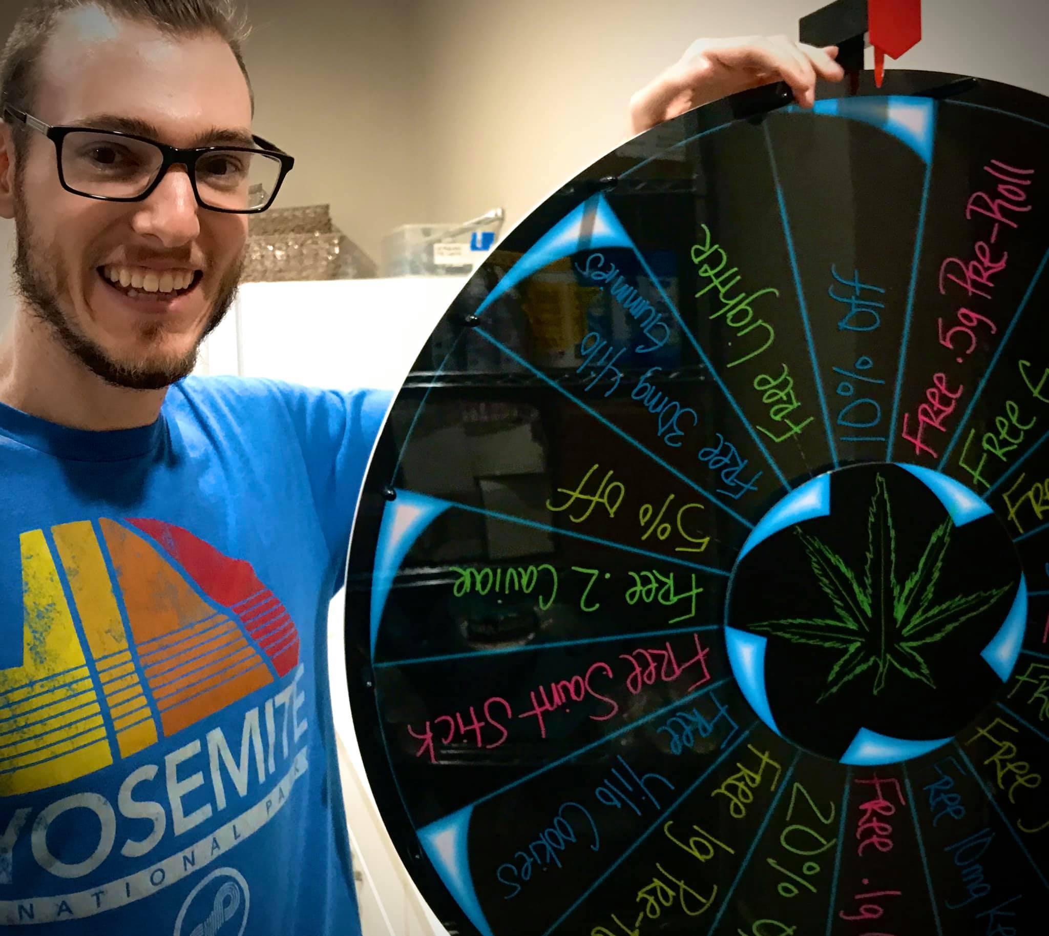 tim wheel of winners at saints