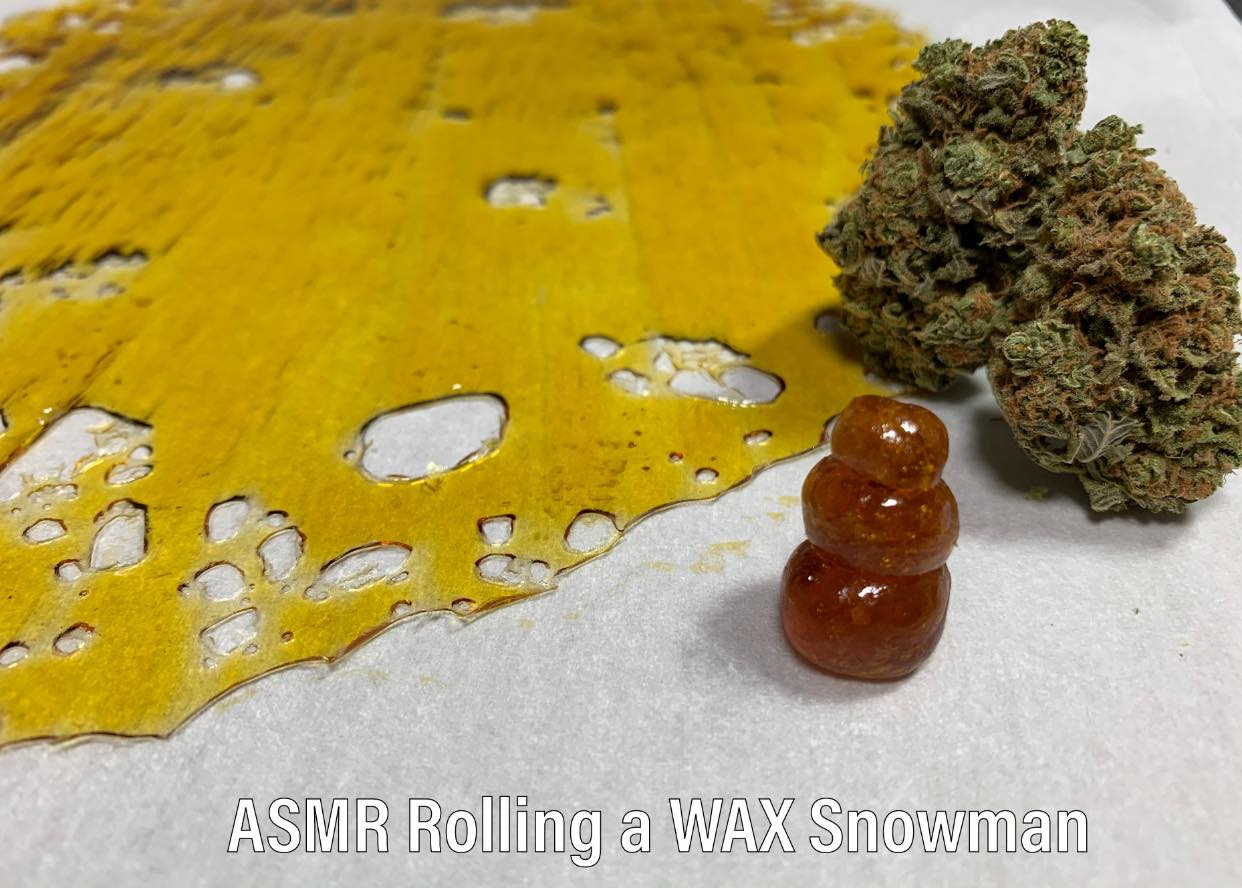 ASMR Rolling Wax Snowman Dispensary