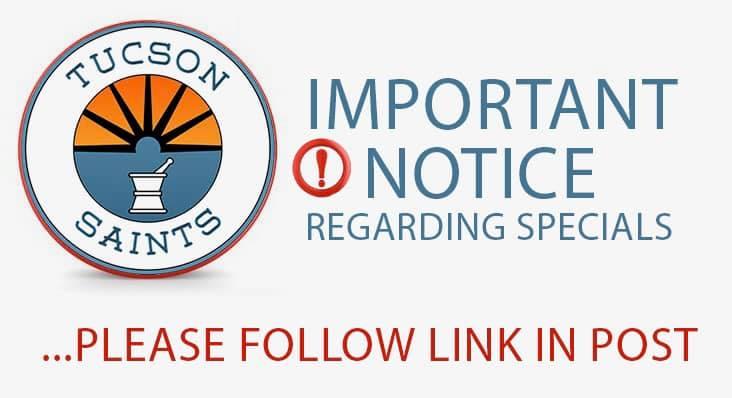 coronavirus saints dispensary notice 2020