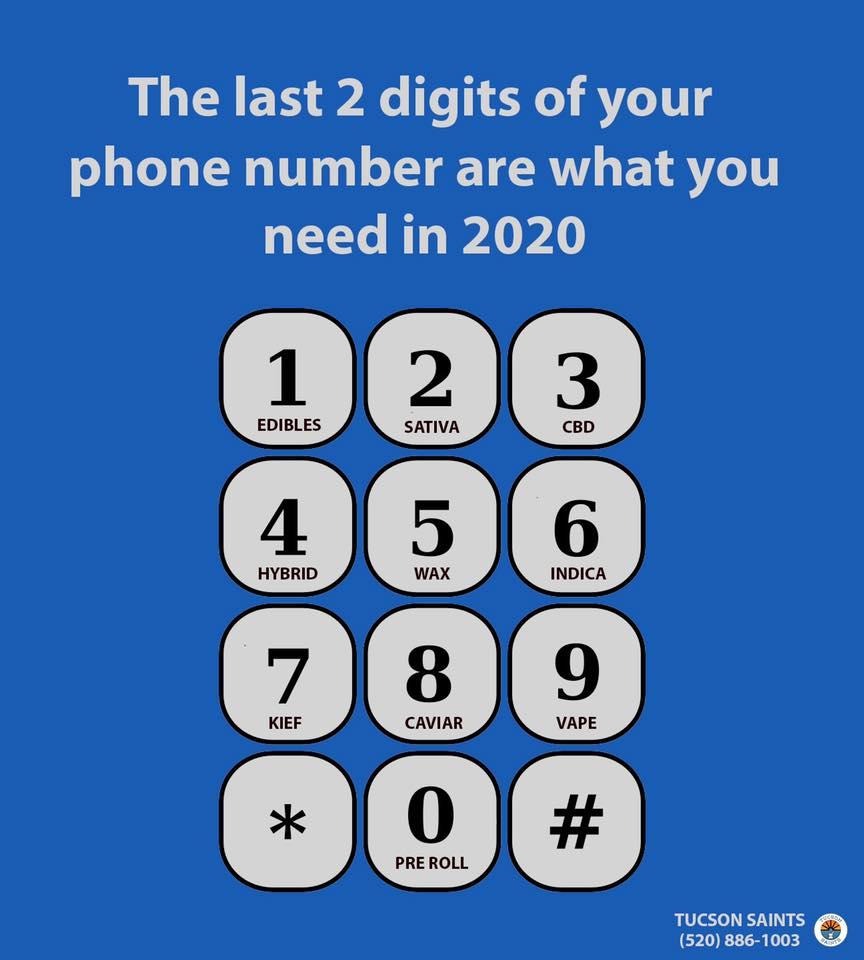 dispensary weed meme 2 digits of phone number