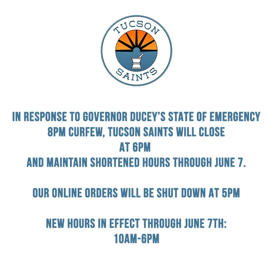 govenor duceys curfew dispensary message