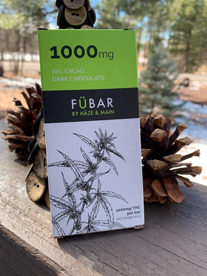 haze and main fubar dark chocolate edibles saints