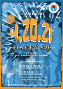 420 SAINTS 2021 Flyer-420 specials dispensary tucson