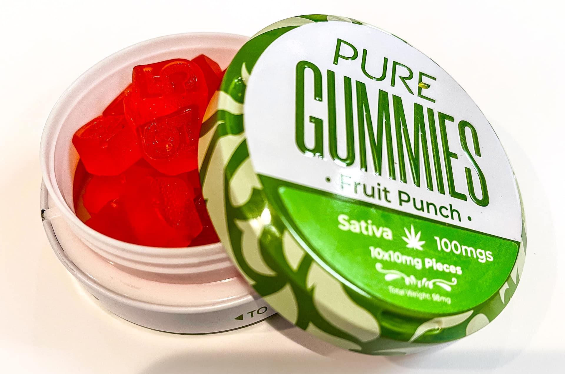 PURE Fruit Punch edible gummies Arizona