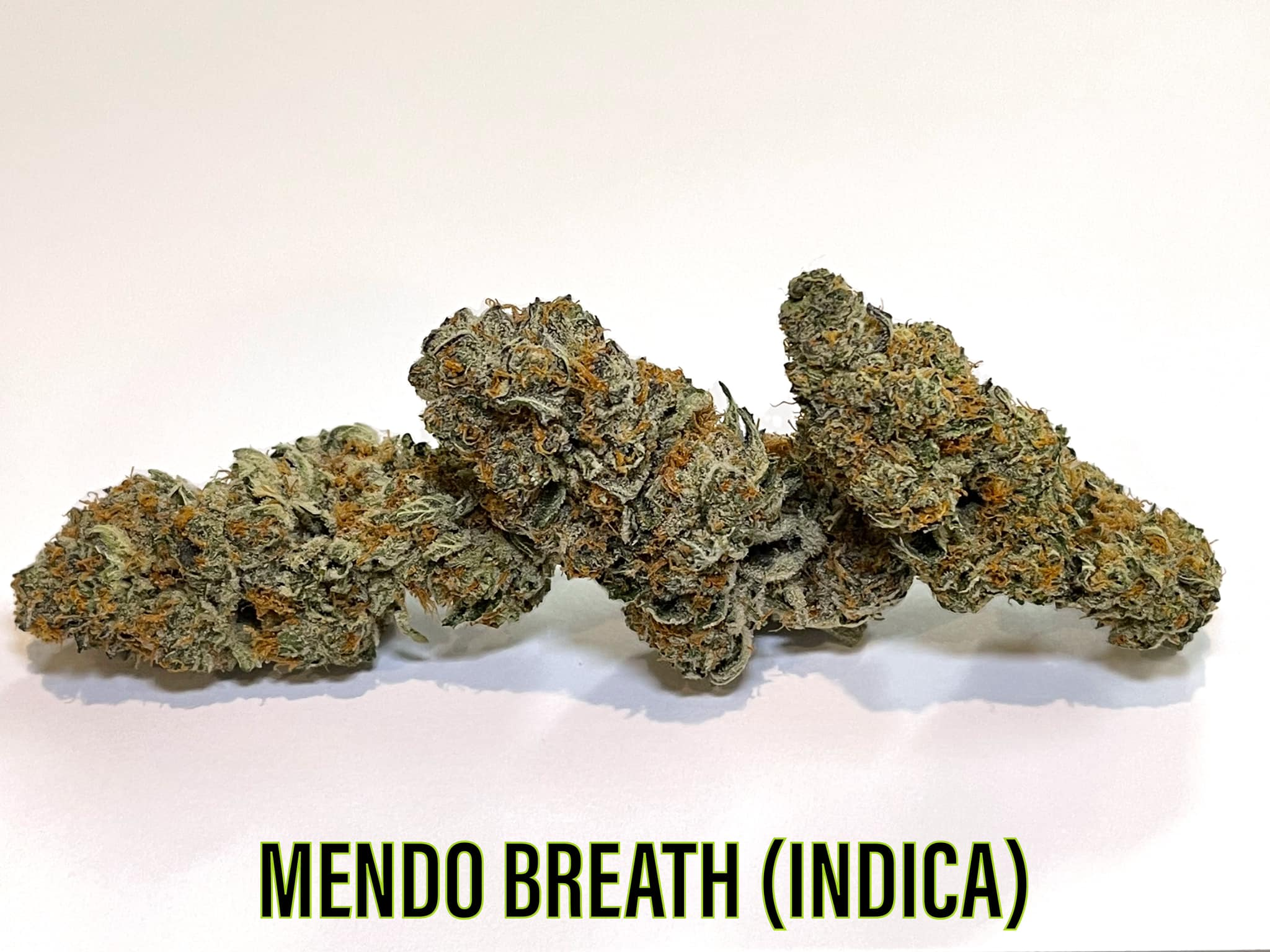 cured buds of indica mendo breath