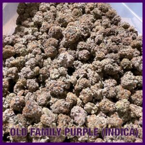 old family purple indica dispensary saints tucson