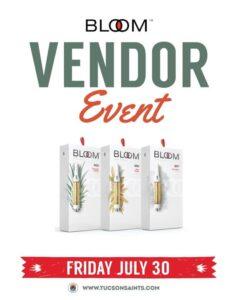 BLOOM vendor event July 30 2021 cartridges sale