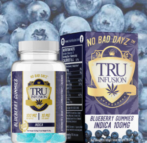 Tru Infusion Blueberry Gummies Cannabis edibles