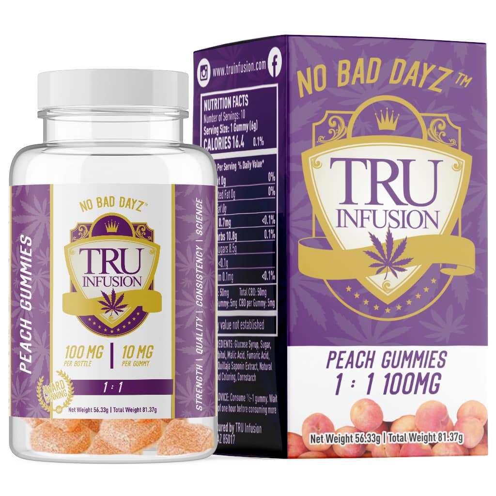 tru infusion peach gummies MED dispensary