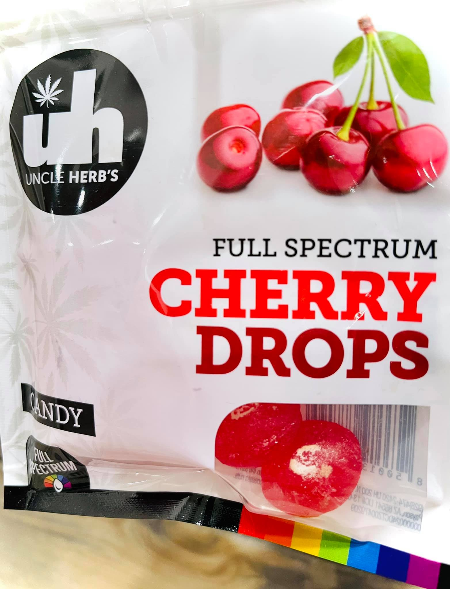 uncle herbs full spectrum cherry drops edibles dispensary